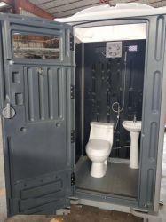 잠비아에 있는 판매를 위한 최신 판매 옥외 HDPE 플라스틱 이동할 수 있는 화장실
