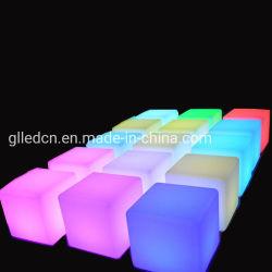 D40cmpe Tisch-Licht-Würfel-Stuhl des materiellen nachladbaren 16 Farben-LED quadratischen Würfel-Sitzstuhl-Schemel-wasserdichter LED für Verkauf