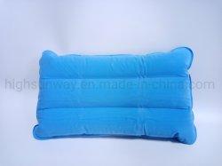 Almofada insuflável do encosto do assento inflável, almofadas, travesseiros travesseiro de viagem, pescoço travesseiro para oferta promocional