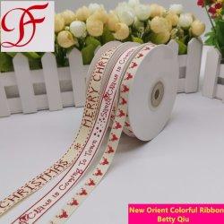 중국 공급 코튼 인쇄 리본 웨딩 장식/선물 포장/X-mAs용