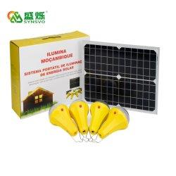 Novo sistema solar de energia acende a lâmpada LED patenteada com 4 PCS Visor de carga da lâmpada