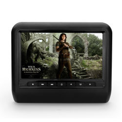 Voiture de l'écran numérique de 7 pouces DVD Moniteur avec appui-tête de jeu sans fil, IR/FM, lecteur de DVD, le Président, USB/SD