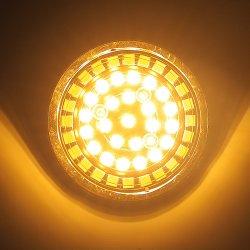 Rifornimento di Facotru per l'indicatore luminoso di giro di Harley che esegue l'indicatore luminoso giallo-chiaro dell'automobile bianca Indicatore-Esterna dell'anello (24LEDs) LED
