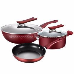 Insieme stabilito antiaderante del Cookware della vaschetta di frittura della casseruola del rivestimento dell'articolo da cucina