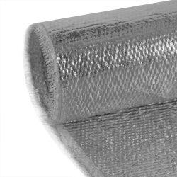 Haute température gris argentée réfléchissante résistant au feu en aluminium recouvert de tissu de fibres de céramique