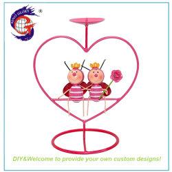 حامل ذراع مكتب Candle Desk جديد باللون الوردي Ladybird على شكل قلب