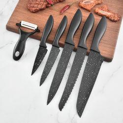 5-PCS no Stick Juego de cuchillos de chef Titular con la cuchilla