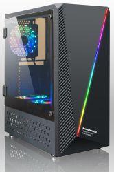 Der neues Modell-Computer PC Kasten mit RGB-Streifen und Seitenkonsole Acrylwindows, USB3.0