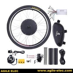 """敏捷な1000W 26 """"前部または後部車輪の先の電気自転車のEバイクモーター変換の循環キット"""