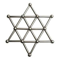 Het magnetische Speelgoed van het Raadsel van Bouwstenen met de Stokken en de Bal van de Magneet