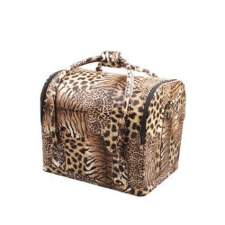 熱いBeauty Handbag販売のヒョウプリント女性化粧箱(HB-6348)