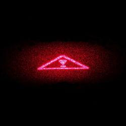 [660نم] [100مو] أحمر ليزر مثلّثي إنذار علامة مميّزة ليزر