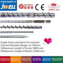 Jwell - parafuso e cilindro único para a máquina de extrusão de tomada de reciclagem de plástico