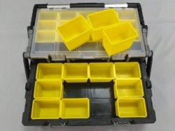 Palstic Hilfsmittel-Speicher-Fall/Schrank-Brust /Toolbox mit entfernbaren Fächern und Edelstahl-Griff