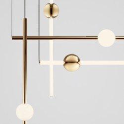 Vidrio cilíndrica de oro Moderno colgante de LED se ilumina Salon Comedor Cocina lámpara colgante (DW-D8187)