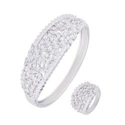 L'Imitation bijoux en diamants de silicium et les bagues Bracelet Bangle dame