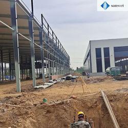 Gute Qualitätsrostfreies helles Stahlkonstruktion-Rahmen-Gebäude für das Arbeiten