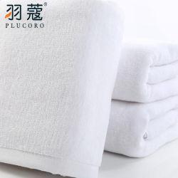 Роскошный 16s 100% цвета Белый хлопок из гостиницы с тканью ручной банными полотенцами.