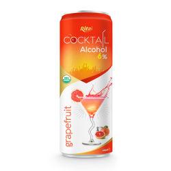 330ml en conserve un cocktail de jus de pamplemousse avec 6 % Alcohol-Vietnam fabricant-fruits Juice-From Rita marque OEM