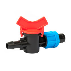 Chiudere tramite gli accessori per tubi della valvola del tubo per irrigazione della serra