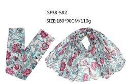 Frauen Neue Mode Schal 2021 Herbst Lady Accessoires Blumendruck OEM-Werk