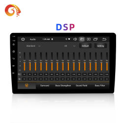 Android Market 10 Octa Core Px5 10,1 polegada 2 DIN Carro Universal Audio com ecrã táctil Carplay DSP aluguer de DVD Stereo