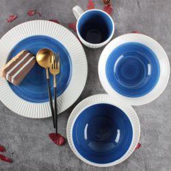 Proveedor de fábrica en relieve cena Ware cerámica de porcelana esmaltada Color mayorista precios baratos