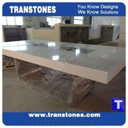 تصميم حديثة أبيض اصطناعيّة حجارة مكتب [ميتينغ تبل] مجموعة, [رسبأيشن دسك] صلبة سطحيّة
