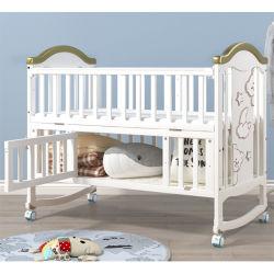 Alavanca multifuncional Eco-Friendly Bebê Madeira Remelexo Presépio mobiliário para bebé, cama de bebé