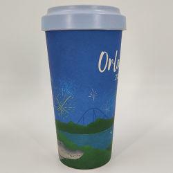 21oz 식기의 생물 분해성 Eco 테이크아웃 대나무 커피 잔 찻잔