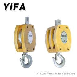 Polia JIS bloco de madeira roda simples/rodas duplas com gancho