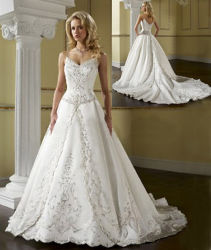 Деликатность вышивка свадебные платья (HS1546)