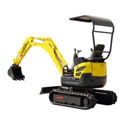 Venda a quente certificado CE 1,0-2,0 Ton rasto de borracha traseira Zero Esteiras Swing Mini Compacto Hidráulica Pequena Digger escavadeiras da máquina para venda com motor Yanmar