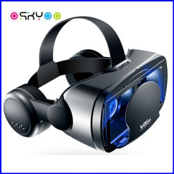 Nueva llegada 2 en 1 Bluetooth Smart Hi-Fi auriculares inalámbricos VR Box Virtual Reality Polarizado 3D Video Glasses