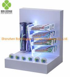 Contador de escova de dentes de acrílico suporte superior do display para lojas de varejo
