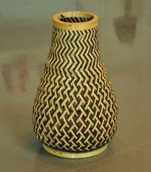 Tejido a mano el bastidor de bambú Lámpara de techo en diferentes tamaños con piezas de ELC no