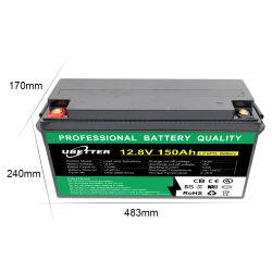 Batteria di ricambio al piombo acido 12V 150ah LiFePO4 12,8V150ah