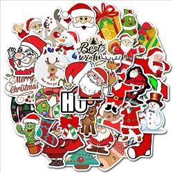 물병용 선물 크리스마스 스티커, 노트북, 가방, 오토바이, 자전거 등에 적합한 방수 비닐 스티커