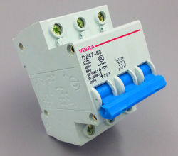 Disjuntor miniatura Dz47-63, 3P C45 3P