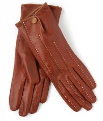옷을 입기 White Stiching Back와 Button (SW260)를 가진 Leather Glove를