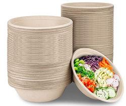 34 oz compostables Bol de bagasse Eco Friendly vaisselle bol bol jetables recyclables et biodégradables