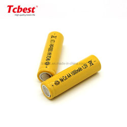 استبدال النيكل Ni-MH القابل للشحن عالية القدرة من تصنيع المعدات الأصلية (OEM) 1.2 فولت AA/AAA سعة 1000 مللي أمبير/ساعة بطارية NiCd 2A باتيريا للسيارة الكهربائية التي تعمل بالتحكم عن بعد في الألعاب مصباح LED من المصنع Tcbest