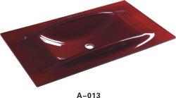 Bacia de vidro temperado colorido bancada A013