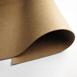 Ficha castanha em pele regenerada para Palmilhas de cinto de couro, Meio sanduíche revestidos com caixa de material saco, material reciclado