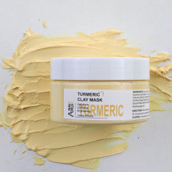 En Stock del proveedor chino de la belleza Cuidado de piel de la cúrcuma ilumina las reparaciones de máscara de arcilla de barro de cúrcuma antienvejecimiento