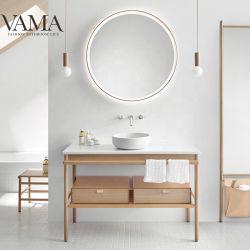 Дизайнерский отель Роскошные ванные комнаты Ванитная мебель Fancy Solid Oak Wood Верхний косметип для раковины DS1805