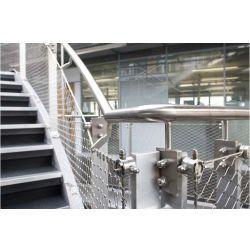 1m breiter Handwoven SUS 304 Diamant-schützender Leinwandbindung-Edelstahl-Maschendraht für Brücken-/Balustrade-/Balcony Geländer