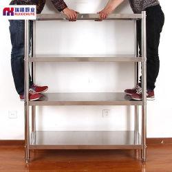 標準的な商業ステンレス製の台所貯蔵のワークベンチの台所鋼鉄棚 ステンレススチール製棚