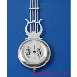 Bricolaje de piezas de reloj de péndulo plateado Bob