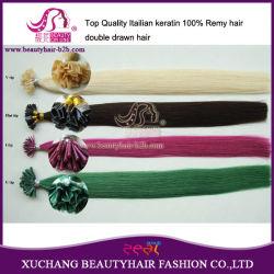 Высшее качество 8A двойные привлечено 100% Реми волос Кератин Memory Stick™ I Совет волос/гвоздь U Кончик волос и волос с плоским наконечником